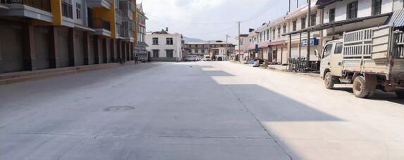 普文镇阳光巷道路设施建设已投入使用